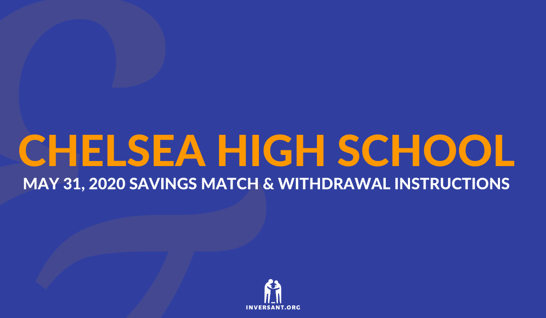 Chelsea May 2020 Savings Match and Withdrawals