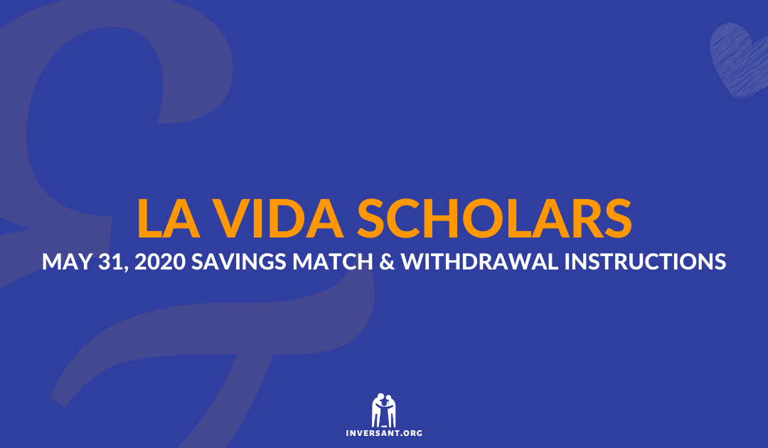 LVS May 2020 Savings Match and Withdrawals
