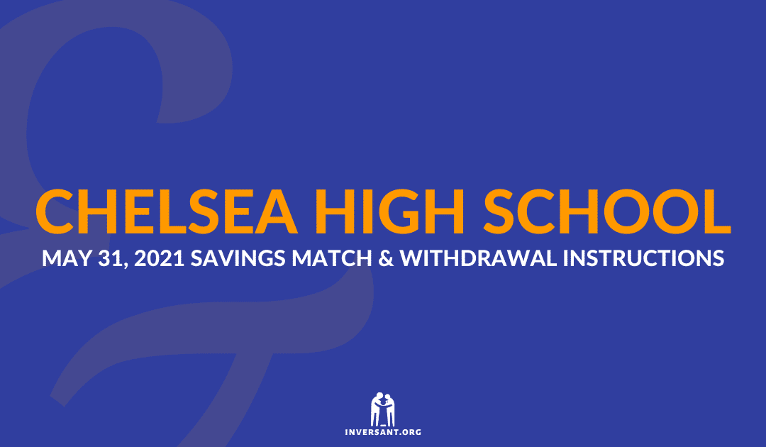 Chelsea May 2021 Savings Match and Withdrawals