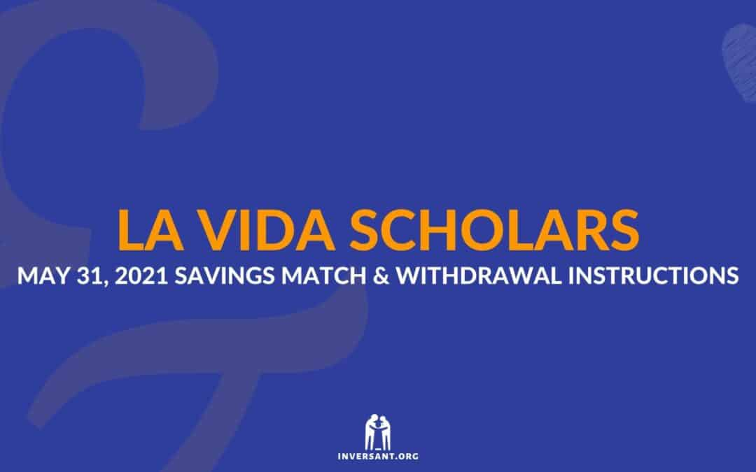 LVS May 2021 Savings Match and Withdrawals